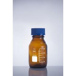 Bottle media screw cap amber color